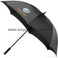 "Advertising promotional custom printed nylon 60"" straight golf umbrella 2"