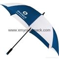 "Advertising promotional custom printed nylon 60"" straight golf umbrella 4"