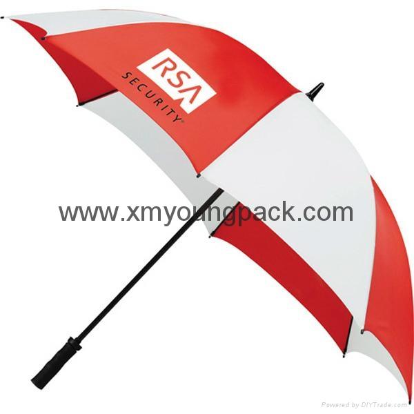 "Advertising promotional custom printed nylon 60"" straight golf umbrella 3"