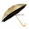 "Advertising promotional custom printed nylon 60"" straight golf umbrella 8"