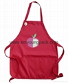 Custom printed promotional cheap non-woven apron with pockets