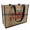 Large jute hessian fabric bag custom