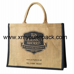 Personalized jute bag plain tote juco eco bags
