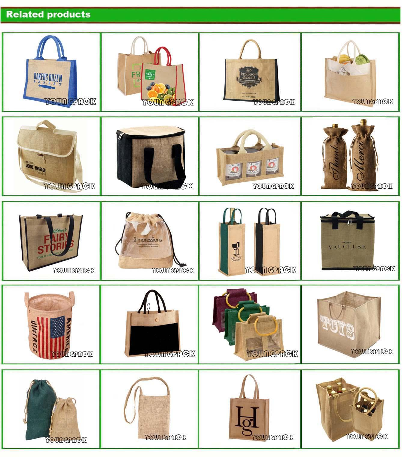 Personalized jute bag plain tote juco eco bags 20
