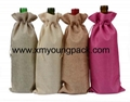 Promotional custom hessian jute wine gift bag 17