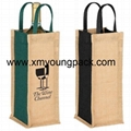 Promotional custom hessian jute wine