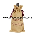 Promotional custom hessian jute wine carry bag 6