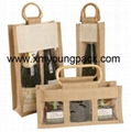 Promotional custom hessian jute wine carry bag 11