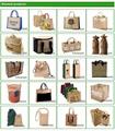 Promotional custom hessian jute wine carry bag 20