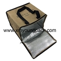 Promotional custom large reusable insulated jute cooler bags 3