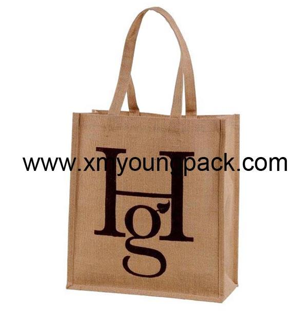 Promotional custom large reusable insulated jute cooler bags 9