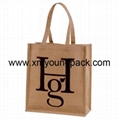Promotional custom large reusable insulated jute cooler bags