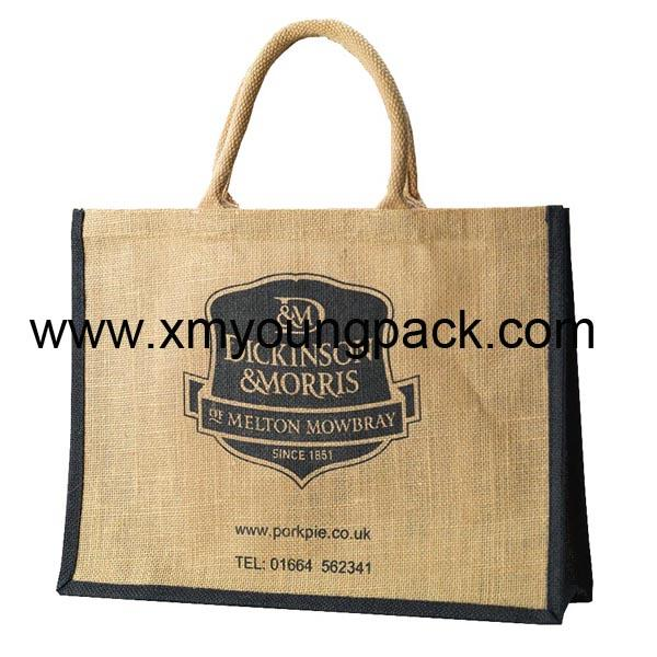Promotional custom large reusable insulated jute cooler bags 10