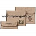 Custom printed small overlock burlap jute hessian pouch 11