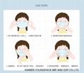 Stock CE FDA Adults Non-Woven Disposable Face Mask