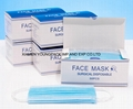 Stock Earloop Non-Woven Fabric Surgical Disposable Face Mask