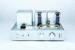 Aluminum Case High Performance Vacuum Tube Stereo Audio Amplifier with Build in