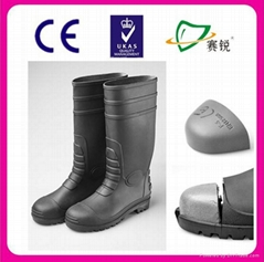 black boots steel toe safety boots