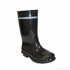 Men cheap long waterproof PVC boots for work