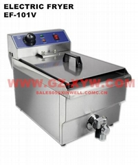 Electric Fryer EF-101V with valve and CE Certification