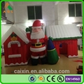 Hot sale Christmas Decorative Inflatable forest Village house for Santa Claus 2