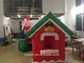 Hot sale Christmas Decorative Inflatable forest Village house for Santa Claus 4