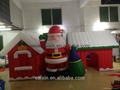 Hot sale Christmas Decorative Inflatable forest Village house for Santa Claus 3