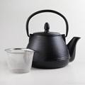 Black Cast Iron Teapot