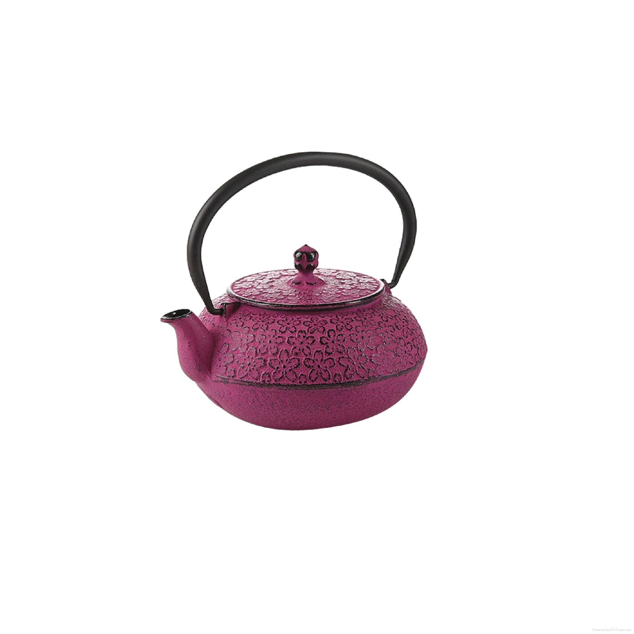 Cherry Blossom Cast Iron Teapot 1
