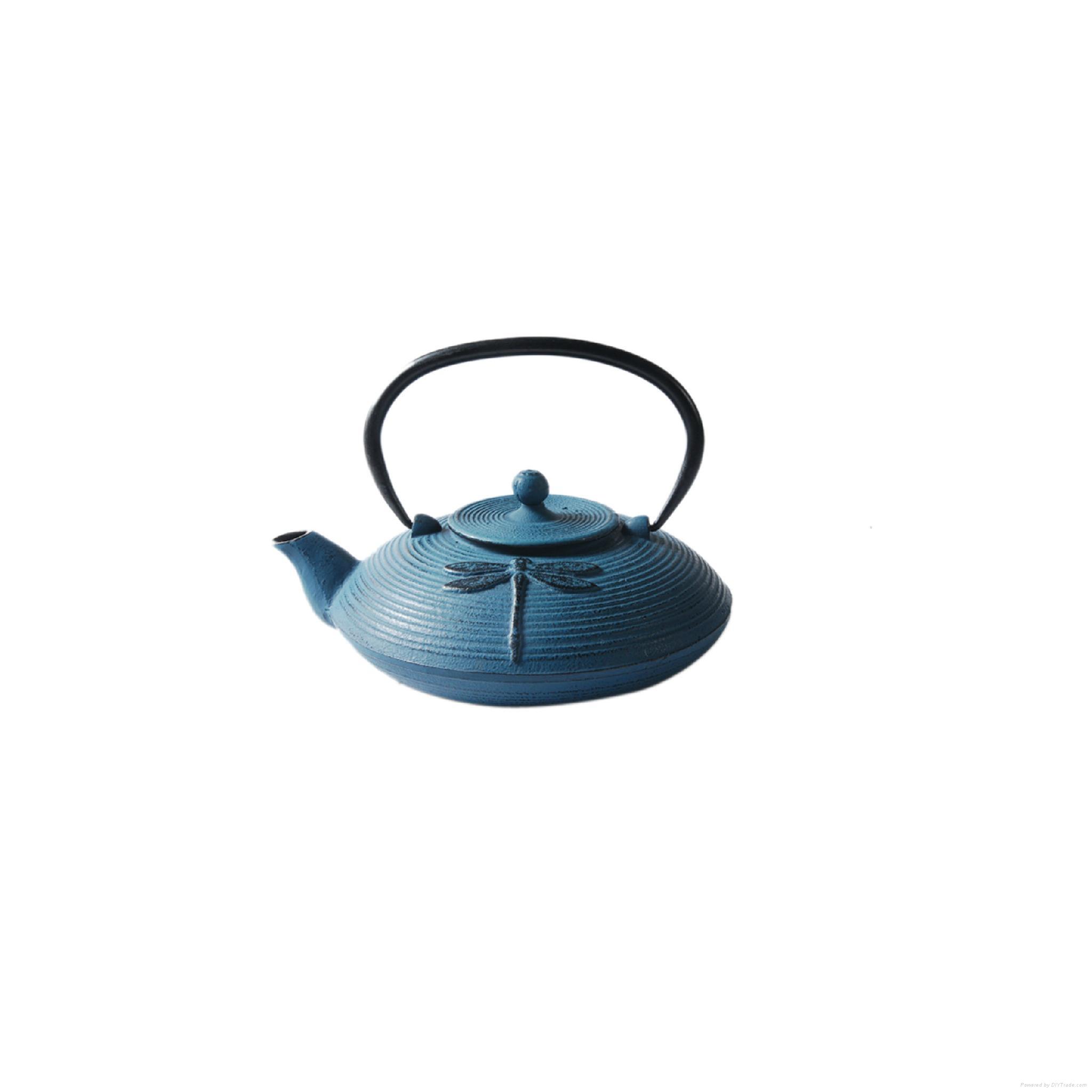 Dragonfly Cast Iron Teapot 1
