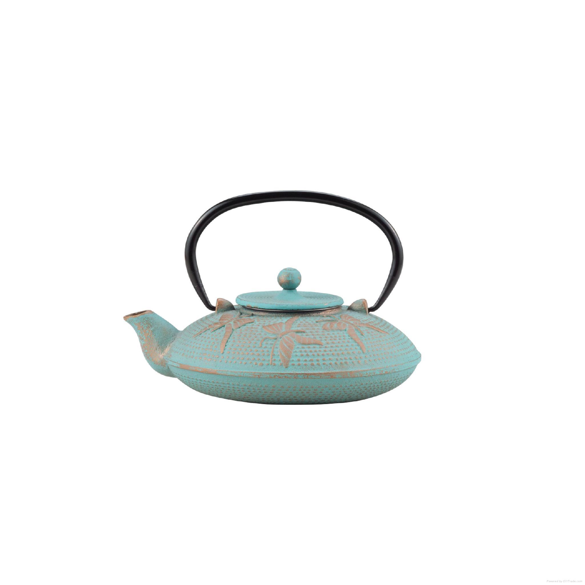 Butterfly Cast Iron Teapot 2