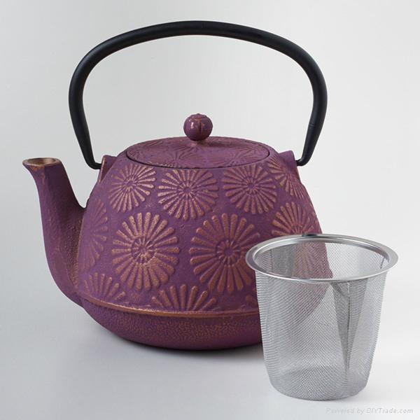 Flower Cast Iron Teapot 1