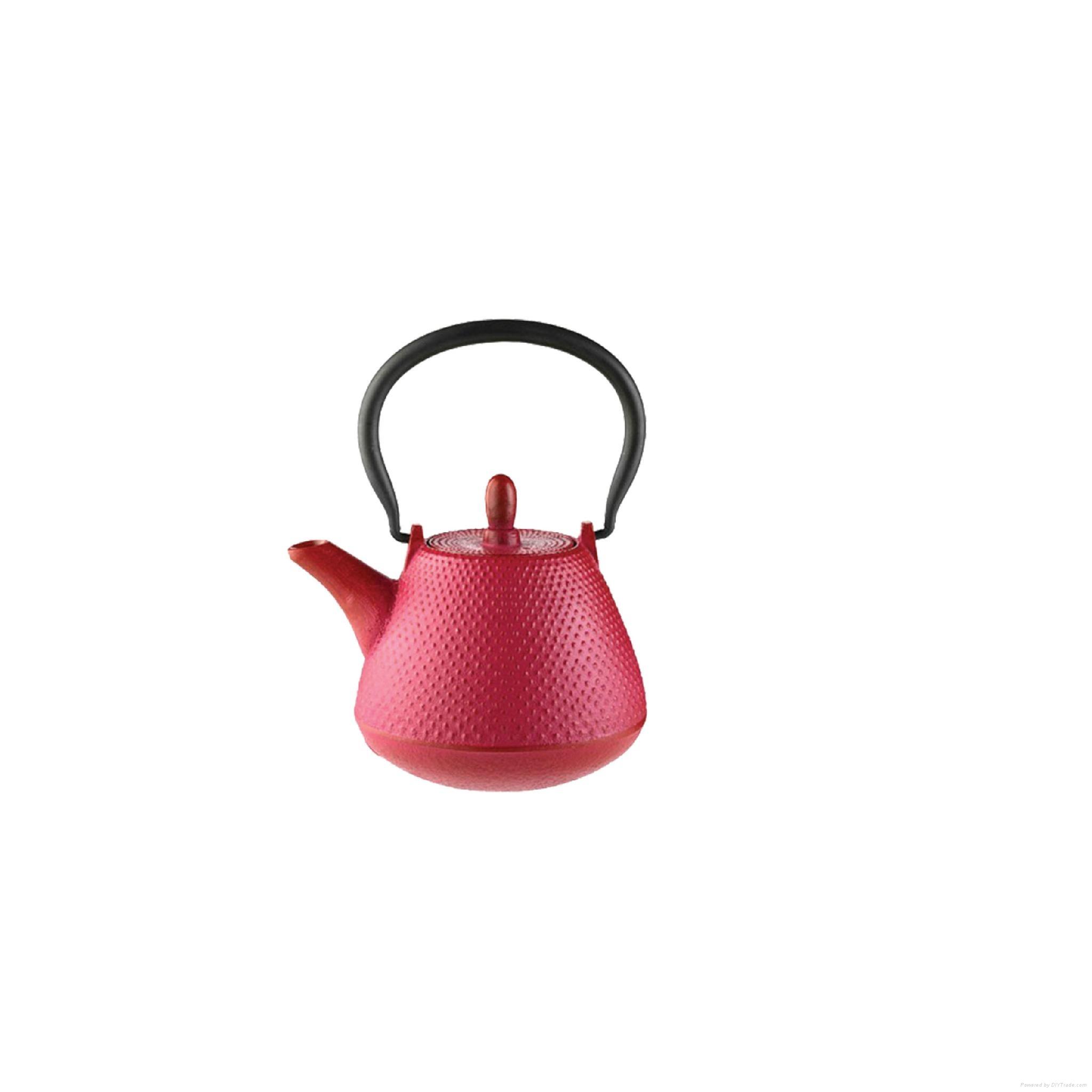 Pink Cast Iron Teapot 1