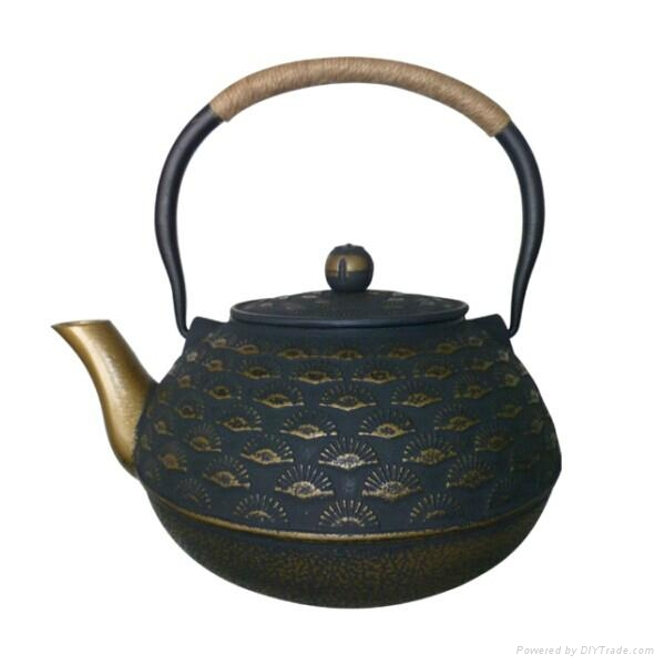 Chinese Antique Cast Iron Teapot 1