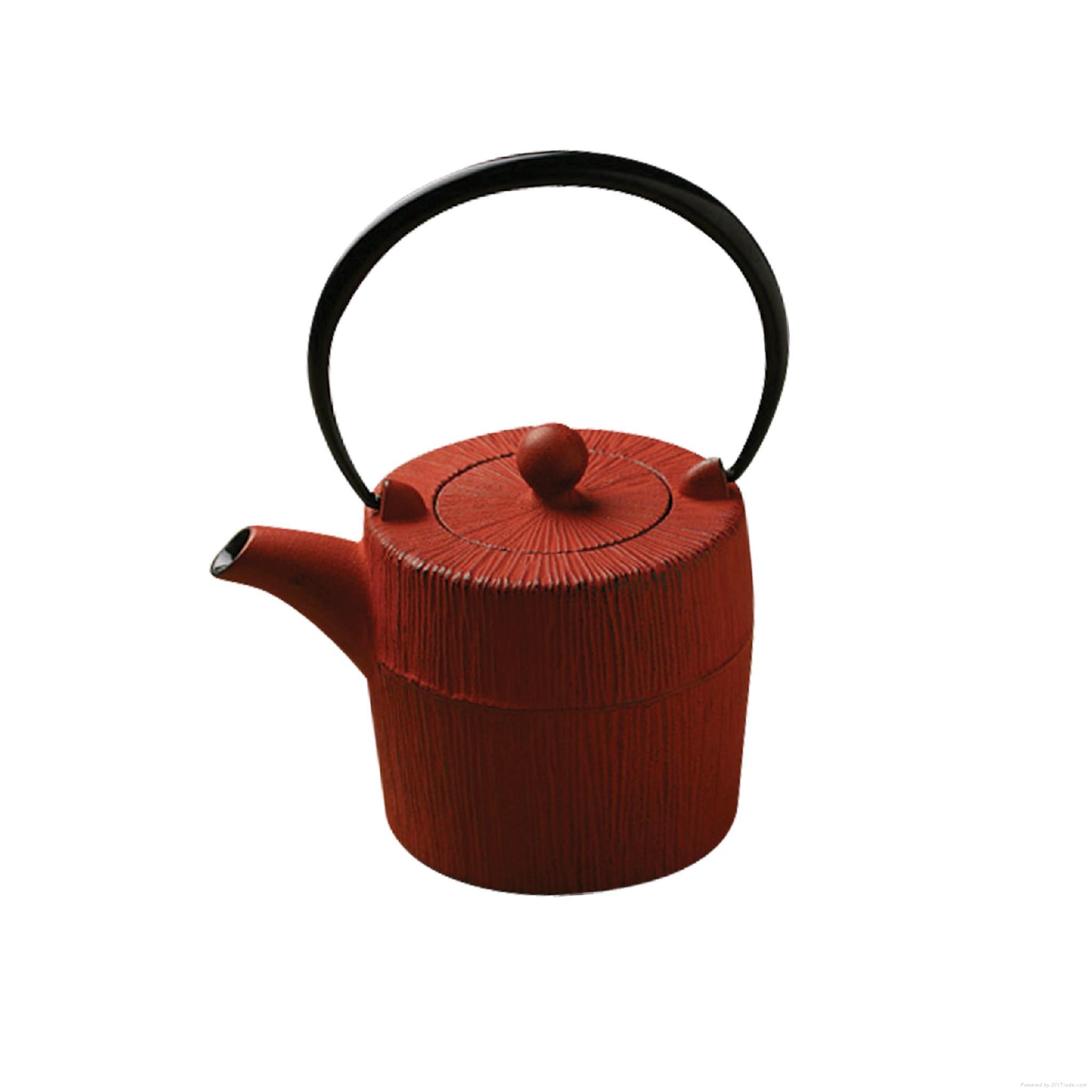 Enamel Cast Iron Teapot 1