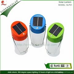 portable solar lamp LED DC port charging