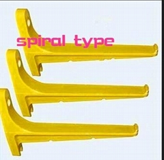 GRP fiberglass composite spiral type cable support