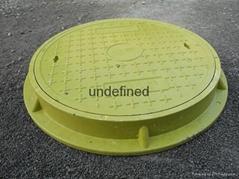 GRP fiberglass inspection round manhole cover