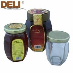 80g Hexagonal Glass Bottle Natural Pure Buckwheat Honey