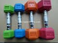 China Gym Rubber Casting Dumbbell Supplier