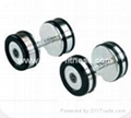 Latest Design Gym Rubber Casting Dumbbell