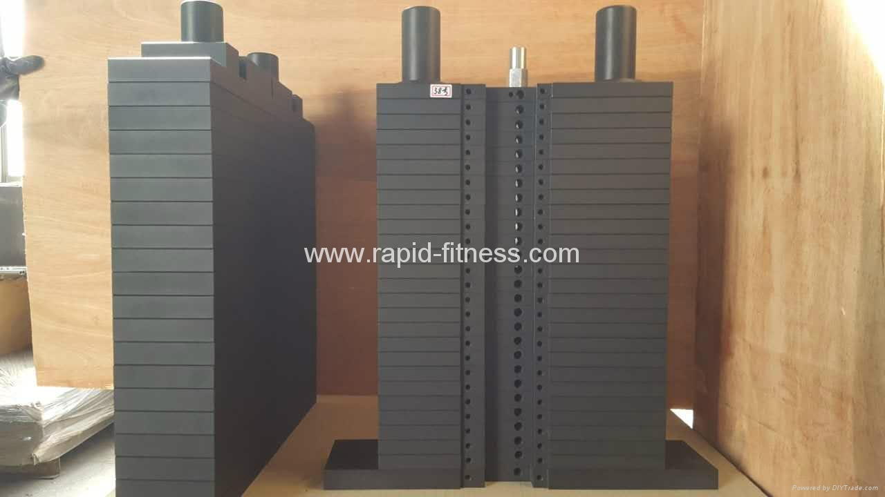 China 100% Steel Gym Weight Stacks Manufacturer 1