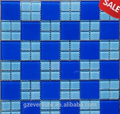 300x300 blue glass mosaic tile