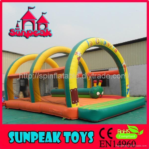 BO-405 Inflatable Jumping Tarpaulin Bouncer 1