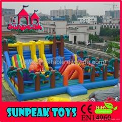 PG-124侏羅紀公園充氣跳床充氣玩具娛樂城
