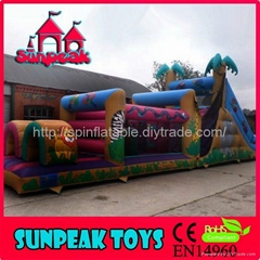OB-096 Jumping And Slide Obstacle Course Ideas