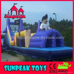 OB-129 Outdoor Pirate Ship Obstacle Course Equipment