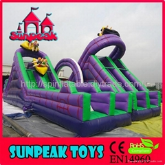 OB-135 Giant Slide Commercial Inflatable Obstacle Course For Sale