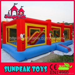 OB-147 Bouncer And Slide Obstacle Course Ideas
