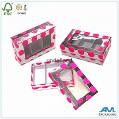 factory wholesale box with clear pvc window supplier